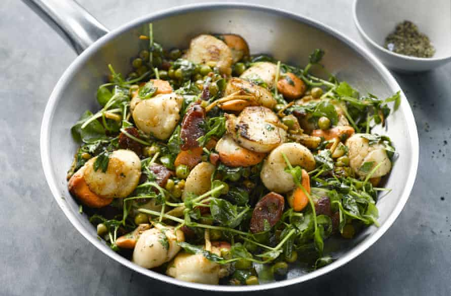 Yotam Ottolenghi's scallops with Chinese sausage