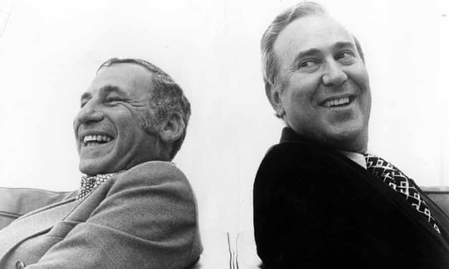 Brooks and Reiner in 1974.
