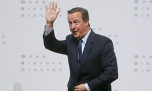David Cameron made his comments on a visit to Kiev, Ukraine.