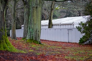 I took the first pictures for my lockdown diary a couple of weeks into January. Covid deaths in the UK were peaking at about 1,500 in just one day, and I was asked to photograph a temporary mortuary set up at Headley Court in Surrey.