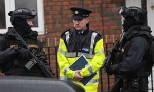 Armed police on patrol in Dublin on Tuesday.