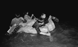 Many freedom swimmers used everything that floated to escape the rigors of the Cultural Revolution in the 1960s