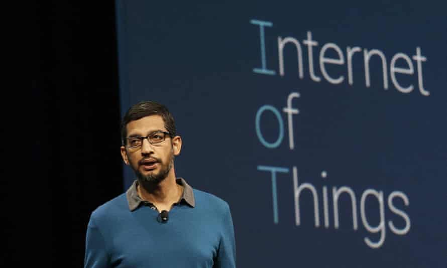 Sundar Pichai, senior vice-president of Android, Chrome and apps, speaks during the Google I/O 2015 keynote presentation in San Francisco on Thursday.