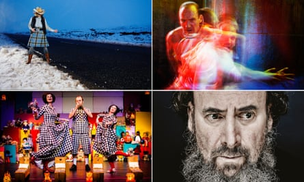 Hot tickets … clockwise from top left, Highland adventures in Anything That Gives Off Light; Ralph Fiennes in Richard III; Antony Sher as King Lear; Fluff, part of the Imaginate festival.