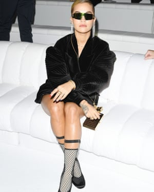 Rita Ora at the Fendi show.