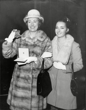 Dame Vera Lynn with her daughter, Virginia, in 1969, after being made OBE.