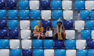 Sweden fans before the game against South Korea in Nizhny Novgorod.