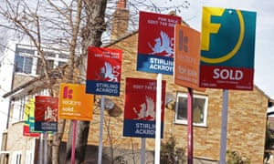 Estate agents signs.