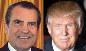 Composite of Richard Nixon and Donald Trump