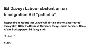 Lib Dem press release