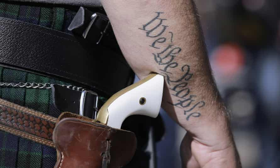 'For too long, the second amendment has been portrayed with a founding fathers aura swaddled in the stars and stripes.'