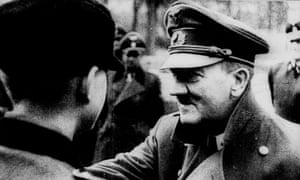 Adolf Hitler decorates members of the Nazi Youth days before his suicide in 1945.