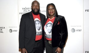 Tracy Martin and Sybrina Fulton at a screening of Rest in Power: The Trayvon Martin Story.
