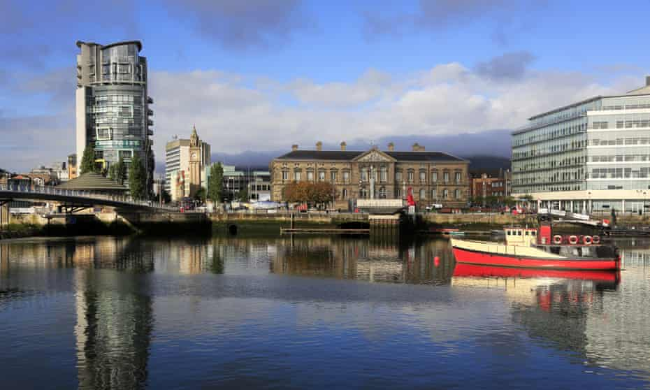 The Custom House from across the river Lagan.