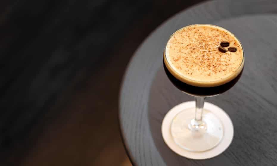 Short, sharp pick-me-up ... espresso martini.