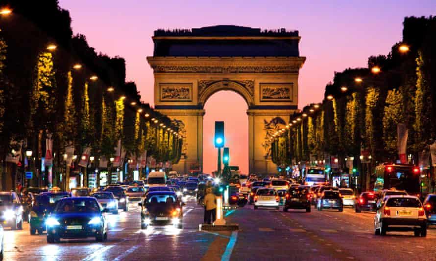 The Arc de Triomphe and Champs Élysées, Paris