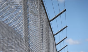 Razor wire at a correctional centre