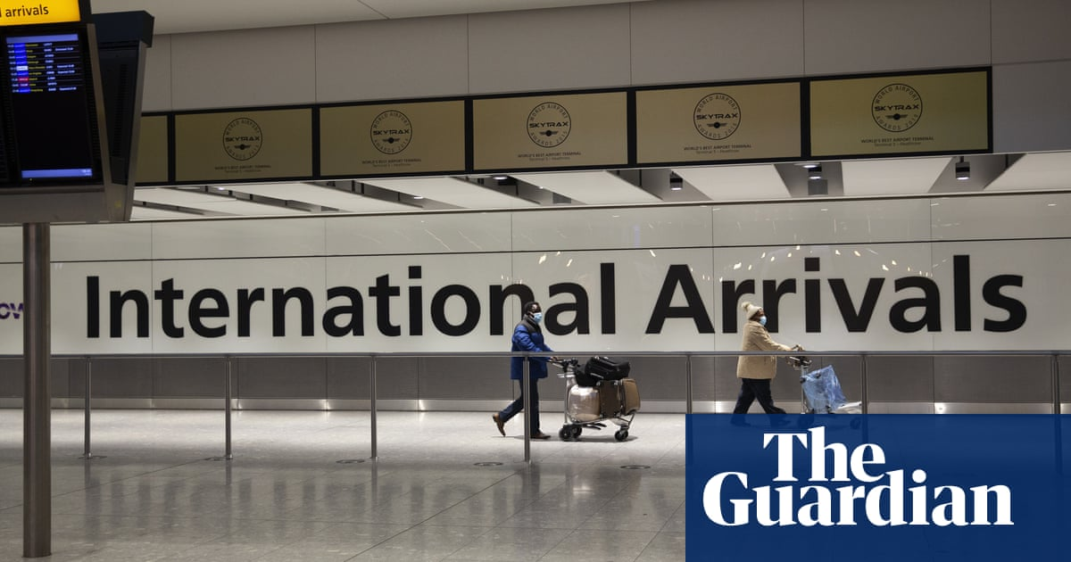 UK airport passenger numbers drop 75% to 74 million in 2020