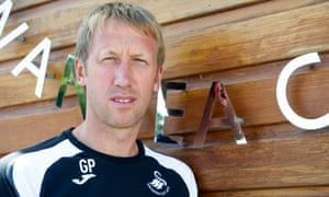 Graham Potter will move to Brighton after 11 months in the job at Swansea.