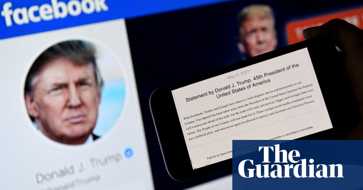 Facebook to suspend Trump's account for two years