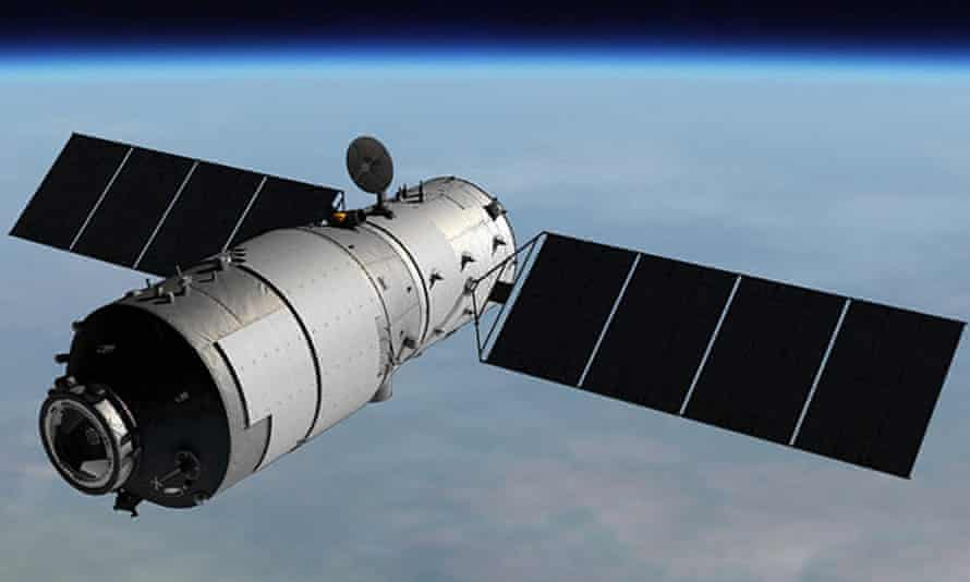 An image of the Tiangong-1 space station which is expected to come crashing to earth within weeks