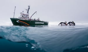 Greenpeace submarine launched from the Arctic Sunrise