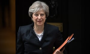 Theresa May leaves Downing Street to deliver a statement on Brexit to the House of Commons on Monday