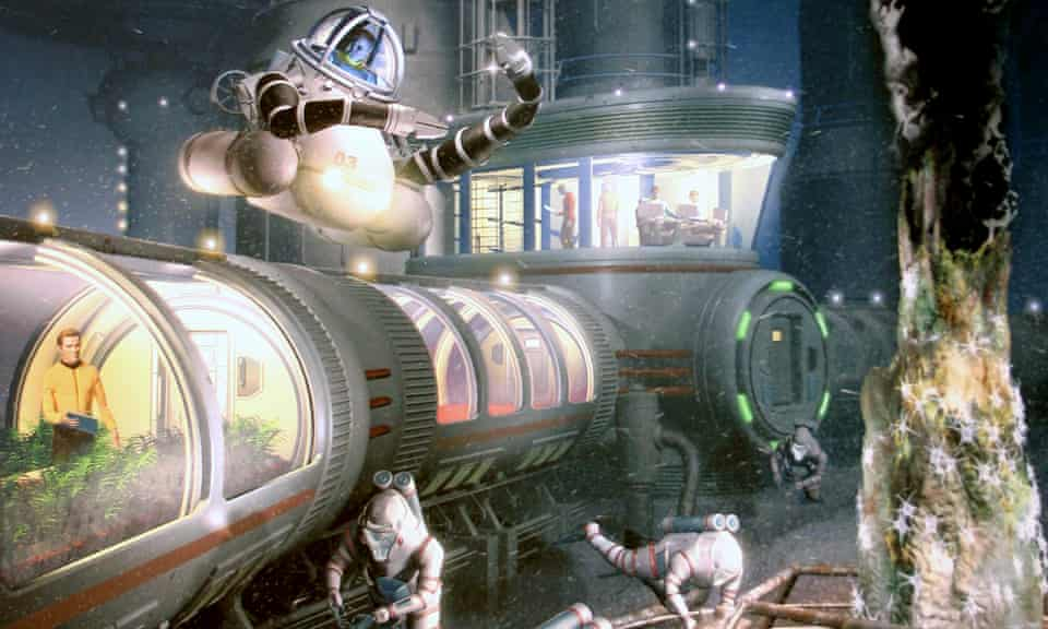The aquanauts: an artist's impression of Vent Base Alpha, the seabed city planned by Phil Nuytten.