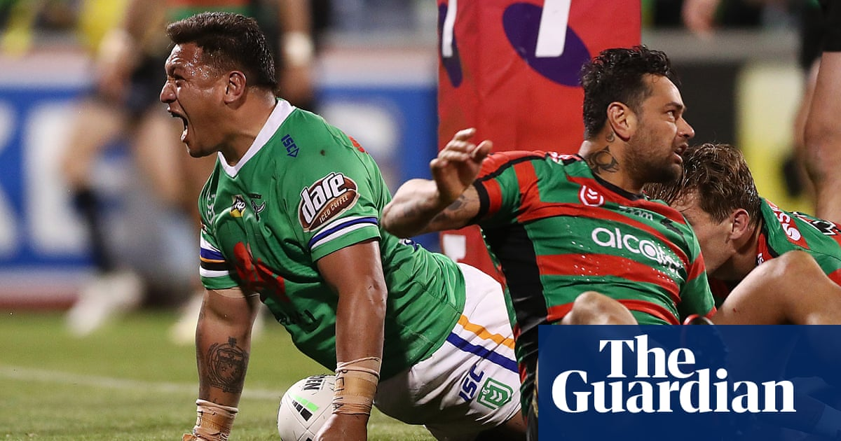 Canberra Raiders end 25-year wait to reach NRL grand final with victory over Rabbitohs