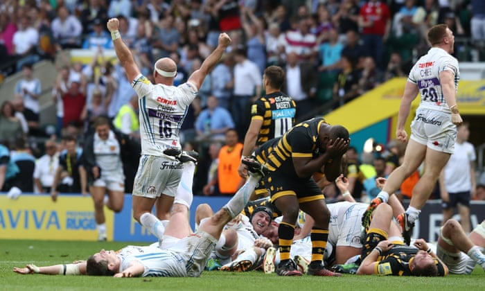 Exeter Chiefs Champions After Epic Win Over Wasps Completes Fairytale Rise Premiership 2016 17 The Guardian