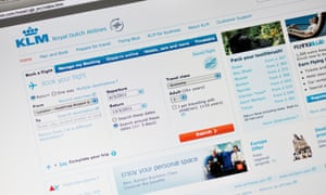 KLM website offers single and return tickets ... but the cheapest option can prove the most costly.