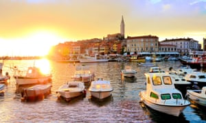 Rovinj old town and harbour.