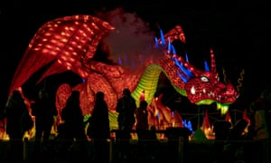The Festival of Light is unveiled at Longleat.