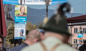 Regional election posters for the AfD and the Bayernpartei in Bavaria