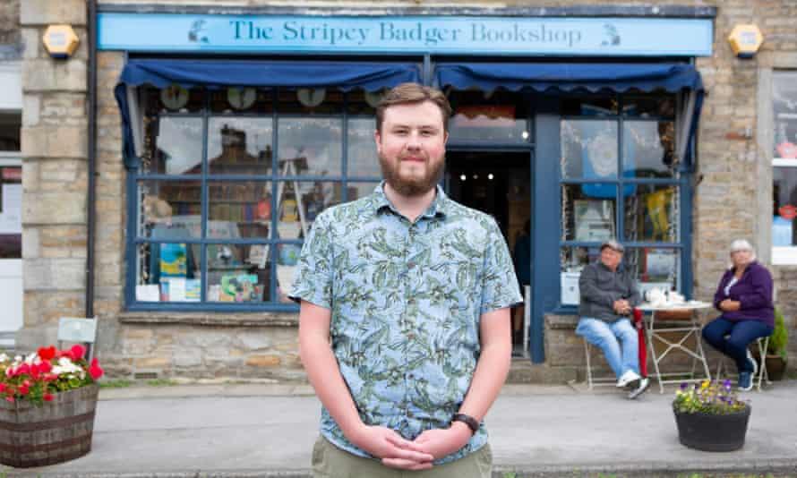 James Firth, co-owner of the Stripey Badger Bookshop