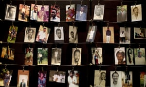 Images of a few of the thousands who died in 1994, at a memorial centre in Kigali.