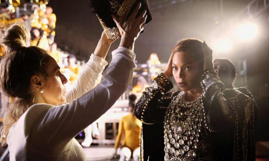 Complete control: a scene from Homecoming: a Film by Beyoncé.