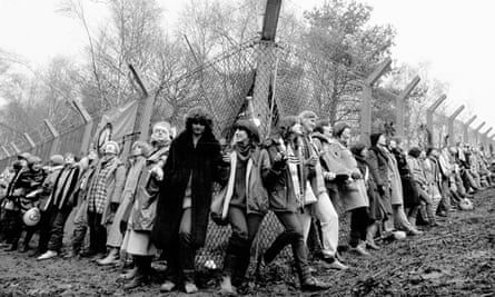 A peace protest in 1982 at Greenham Common air base.