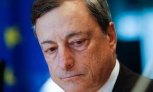 Mario Draghi, president of the European Central Bank, during a hearing at the European parliament committee on monetary affairs in Brussels.
