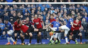 Everton's Phil Jageielka and Seamus Coleman can't find a way past West Brom's solid defensive wall in February 2016