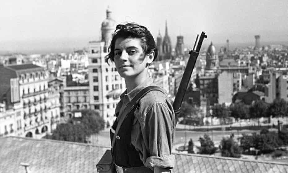 Marina Ginesta , a member of the Catalan (JSU) Communist Youth