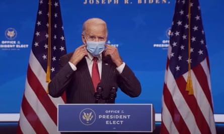 Joe Biden in Wilmington, Delaware Thursday.