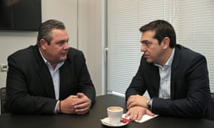 Panos Kammenos with Alexis Tsipras in January.