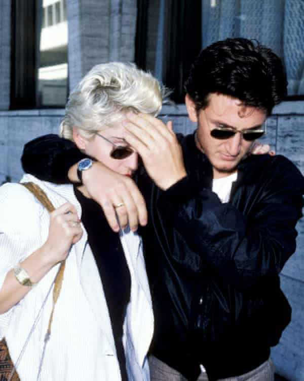 Sean Penn with Madonna, in 1986.