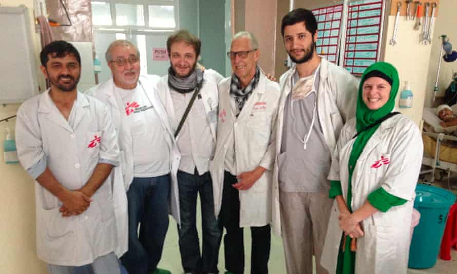 Kathleen Thomas with the Kunduz hospital team