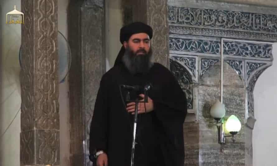 Abu Bakr al-Baghdadi in 2014.