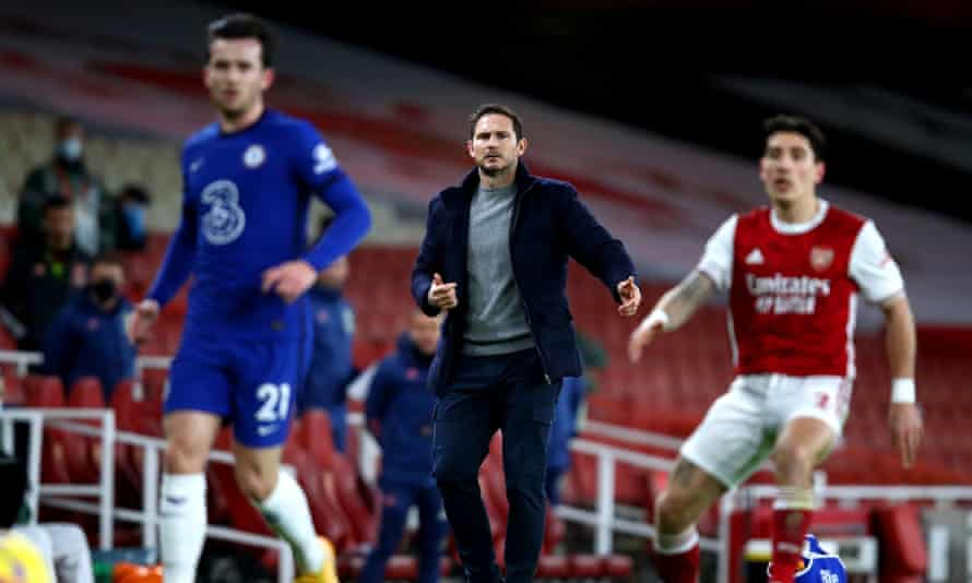 Frank Lampard was unhappy with Chelsea's approach during their defeat at Arsenal