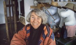 Moomin creator Tove Jansson at huer studio in Helsinki, Finland, in 1992.