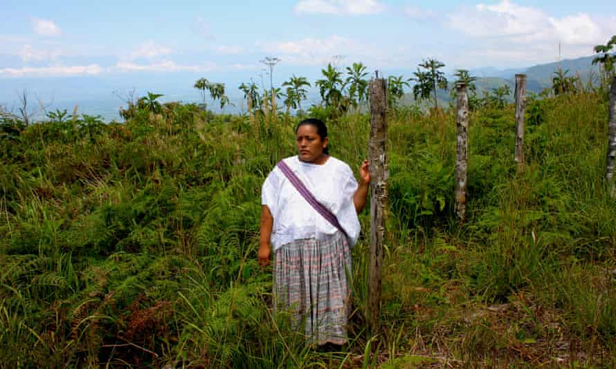 Irma Yolanda Choc Cac in her community of Lote Ocho. The women link the violence to the nearby Fenix mine, and the Guatemalan subsidiary controlled by Canda's Skye Resources.