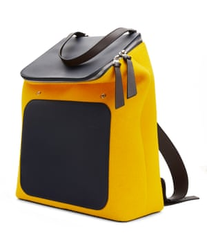 Leather and felt backpack, £1,500, by Loewe